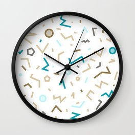 GOLDEN MEMPHIS PATTERN Wall Clock
