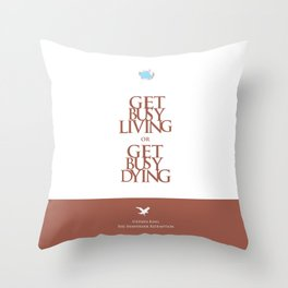 Lab No. 4 - Stephen King Shawshank Redemption movie Inspirational Quotes poster Throw Pillow