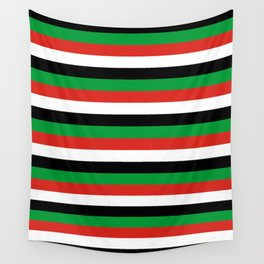 libya Sudan Syria United Arab Emirates Western Sahara flag stripes Wall Tapestry