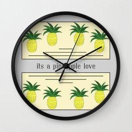 Its a pineapple love Wall Clock