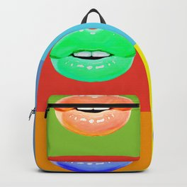 Colorful lips Backpack