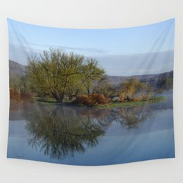 Peaceful Reflection Landscape Wall Tapestry
