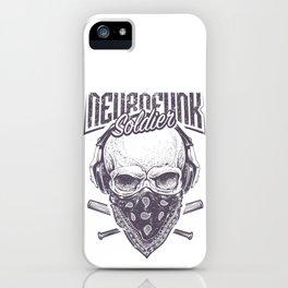 Neurofunk Soldier iPhone Case