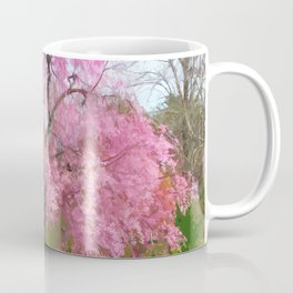 Flowering Tree in Spring Stylized Photo Illustration Coffee Mug