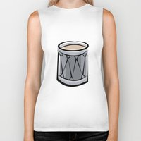 drum Biker Tanks featuring Drum by shopaholic chick