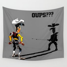 Fast shadow - OUPS - grey version Wall Tapestry