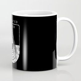 Caffeine on the Brain // B&W Regulated by Coffee Espresso Drip Distressed Living Graphic Design Coffee Mug
