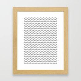 Chevron Pattern Gray Framed Art Print