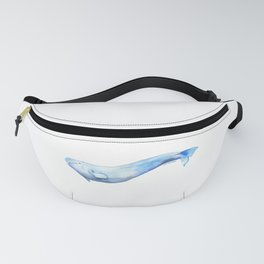 Beluga Whale Watercolor Fanny Pack