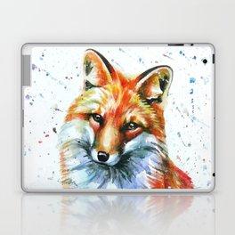 FOX 2 watercolor Laptop & iPad Skin