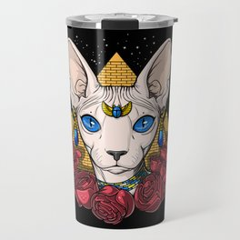 Egyptian Sphynx Cat Pharaoh Travel Mug