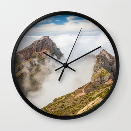 Mountains on Madeira Wall Clock