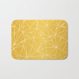 Mosaic Triangles Repeat Seamless Pattern gold Bath Mat