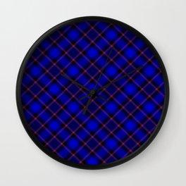 Scottish Fabric Blue Wall Clock