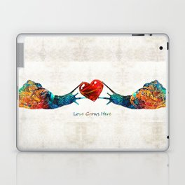 Snail Art - Love Grows Here - By Sharon Cummings Laptop & iPad Skin