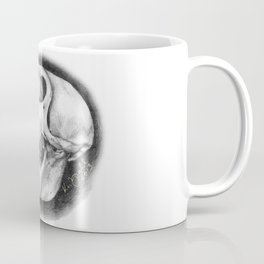 Baboon Skull Drawing Coffee Mug