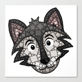 Howl You Doin'? - Cute Wolf - Puppy - 57 Montgomery Ave Canvas Print