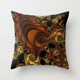 Cornucopia Fractal Throw Pillow