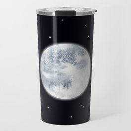 Watercolor Full Moon Travel Mug
