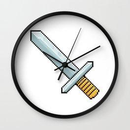 Retro Pixel : Sword Wall Clock