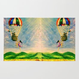 BALLOON LOVE: Flying Away Rug