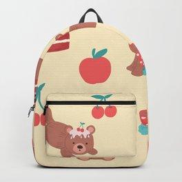 Bear Velvet Backpack