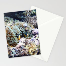 Fish in Sea Anemone Stationery Cards