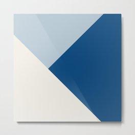 Baby Blue meets Classic Blue & Coconut Milk Geometric #1 #minimal #decor #art #society6 Metal Print