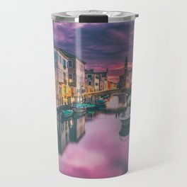 Canal and the Boats Travel Mug