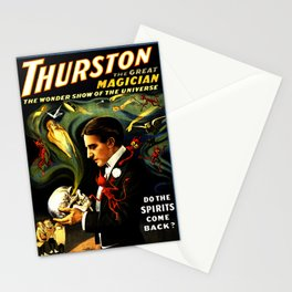 Thurston the Great Magician, the Wonder Show of the Universe. Do the Spirits Come Back? Stationery Cards