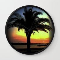 palm Wall Clocks featuring Palm by Chris' Landscape Images & Designs