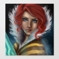 transistor Canvas Prints featuring Transistor - Tears by selvaritan