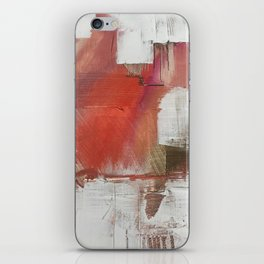 California Sun [2]: a minimal, abstract piece in reds and gold by Alyssa Hamilton Art iPhone Skin