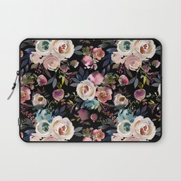 Blush pink teal lilac ivory watercolor modern roses Laptop Sleeve