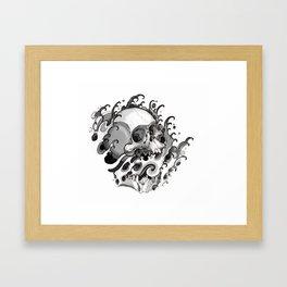 Skull Waves Framed Art Print