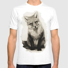 Fox Say What?! MEDIUM Mens Fitted Tee White