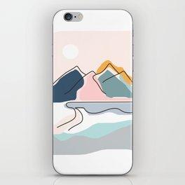 Minimalistic Landscape iPhone Skin