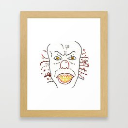 Pennywise The Dancing Clown - Digitally Rendered Hand Embroidery Framed Art Print