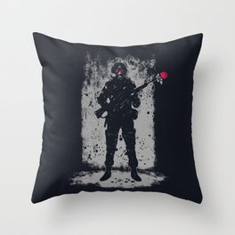 Soldier &  Rose Throw Pillow