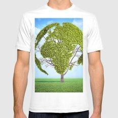 Globe Tree Mens Fitted Tee MEDIUM White