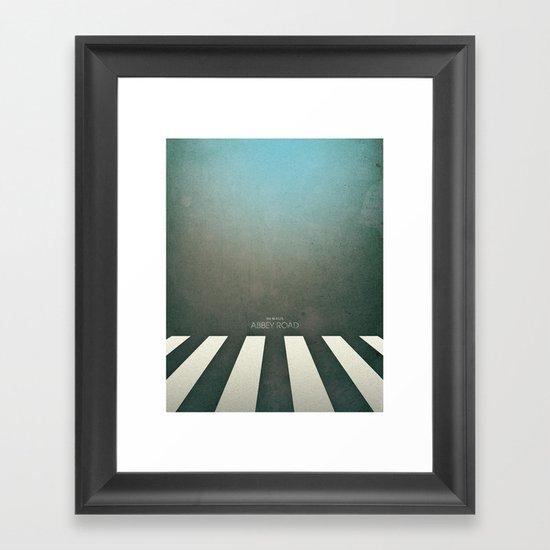 Smooth Minimal - Abbey road Framed Art Print