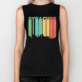 Retro 1970's Style Syracuse New York Skyline Biker Tank