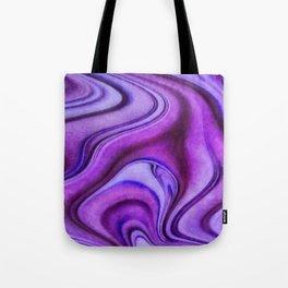 Violet wavy abstract Tote Bag