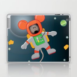 Space Mouse floating in space Laptop & iPad Skin