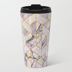 Vintage Marble Art Deco Pattern Travel Mug
