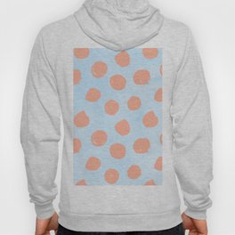 Sweet Life Dots Peach Coral Pink + Blue Raspberry Hoody