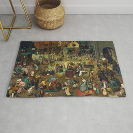 The Fight Between Carnival and Lent by Pieter Bruegel the Elder (1559) Rug