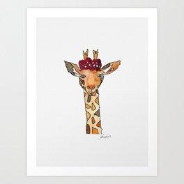 jiraffe Art Print