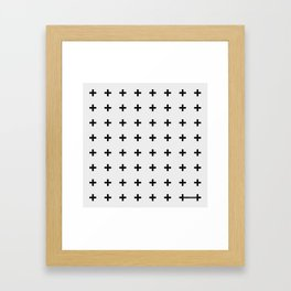 Black Plus on White /// Black n' White Series Framed Art Print