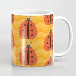 Orange Ladybug Autumn Leaf Coffee Mug